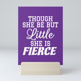Little & Fierce (Purple) Mini Art Print