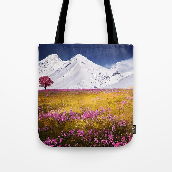 When Flowers Bloom And The Mountains Froze Tote Bag