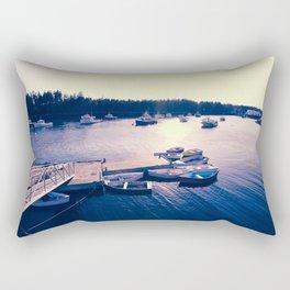Winter Harbor Sundown Rectangular Pillow