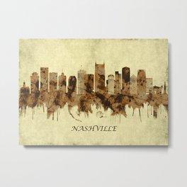 Nashville Tennessee Cityscape Metal Print