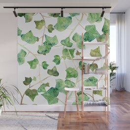 English Ivy Pattern Wall Mural