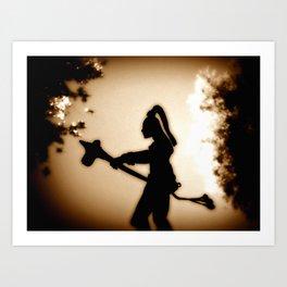 Sepia Warrior Art Print