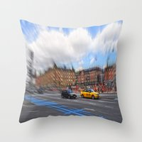 street Throw Pillows featuring street by  Agostino Lo Coco