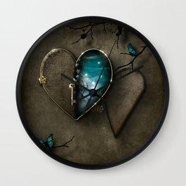 Secret Journey of the Heart Wall Clock
