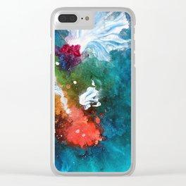 Rainbow Splatter Koi Clear iPhone Case