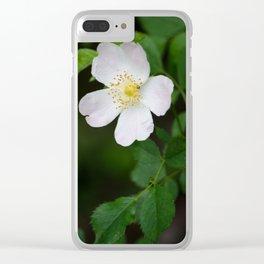 White Flower Bush Clear iPhone Case