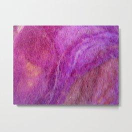 Warm purple wool Metal Print