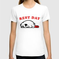 T-shirts featuring Rest Day Pug by Huebucket