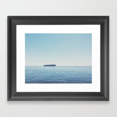 Somewhere in the Pacific Framed Art Print