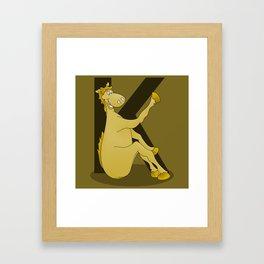 Pony Monogram Letter K Framed Art Print
