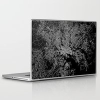 maryland Laptop & iPad Skins featuring Baltimore map Maryland by Line Line Lines