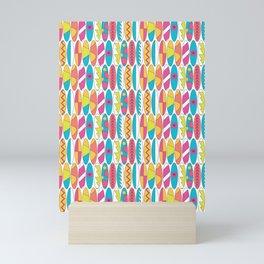 Rainbow Colored Waikiki Surfboards Mini Art Print
