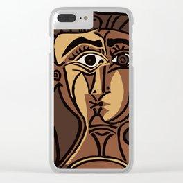 Pablo Picasso, Tete de Femme (Head Of A Woman) 1962 Artwork Reproduction Clear iPhone Case