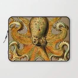 Vintage Golden Octopus Laptop Sleeve