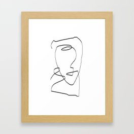 Abstract head, Minimalist Gerahmter Kunstdruck