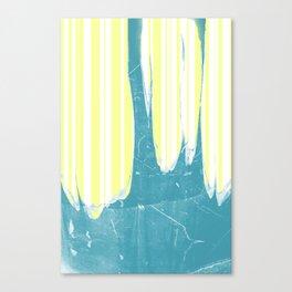 water&yellow stripe Canvas Print