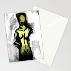 Naked Black and White Stationery Cards