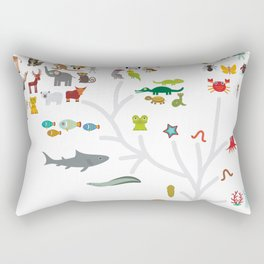 Evolution scale from unicellular organism to mammals. Evolution in biology, scheme evolution of anim Rectangular Pillow
