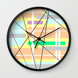 A Series Of Rays Wall Clock