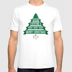 Merry Wishes White Mens Fitted Tee SMALL
