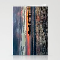 calendars Stationery Cards featuring Huntington Beach Sunset  1/26/14 by John Minar Fine Art Photography