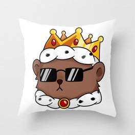 King Fred Throw Pillow