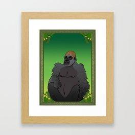 Art Nouveau Gorilla Framed Art Print