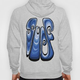 Surf Typography - Deep Blue Hoody