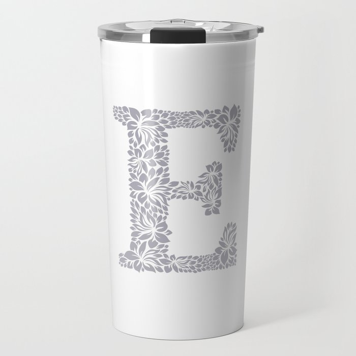 Floral Letter E Travel Mug by textures | Society6