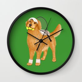 Ready for Tennis Practice (Green) Wall Clock