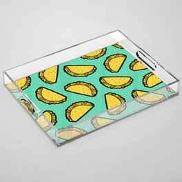 It's Taco Time! Acrylic Tray