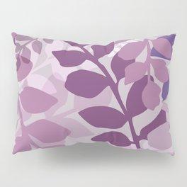 Ultra Violet Purple Lavender Leaves Pattern Pillow Sham
