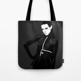black & little white Tote Bag
