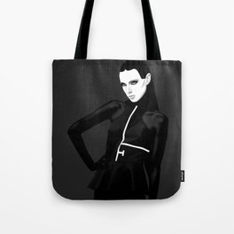 black & little white Tote Bag