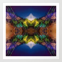 Acid-land. Art Print