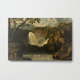 Waterfalls of Tivoli, Lazio, Italy by Jakob Philipp Hackert Metal Print