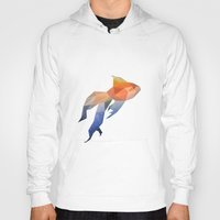low poly Hoodies featuring Low Poly Fantail Goldfish  by The animals moved to - society6.com/dian