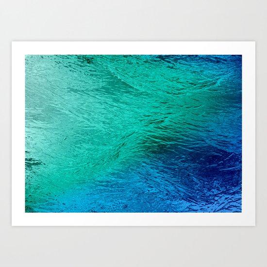 Ocean Sea Water Digital Art  Art Print