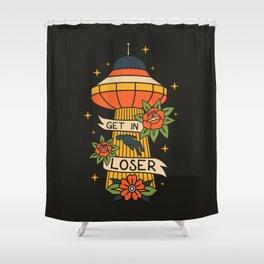 Hello Human! Shower Curtain
