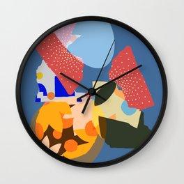 A Town In Manhattan Wall Clock