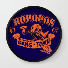 Ropopos: The Toughest Gang In Town Wall Clock
