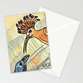 The Crow and the Hoopoe Stationery Cards