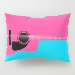 Pink Acoustic Guitar Background Pillow Sham