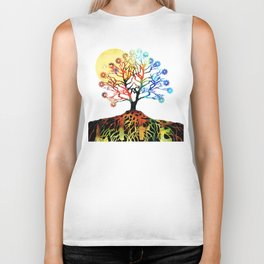 Spiritual Art - Tree Of Life Biker Tank