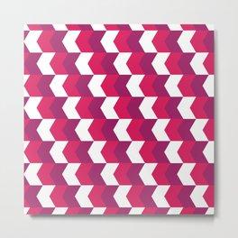 Pink and Purple Arrows Metal Print