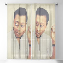 James Baldwin, Literary Legend Sheer Curtain