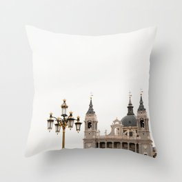 Catedral de la Almudena Throw Pillow
