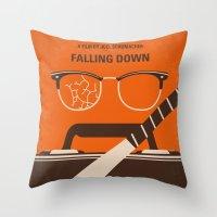 No768 My Falling Down minimal movie poster Throw Pillow