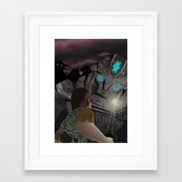 shadow of the colossus Framed Art Prints featuring Shadow of the Colossus by MetroidHugs