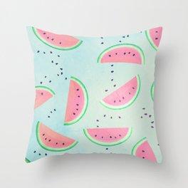 Spilled Watermelon Pattern Throw Pillow